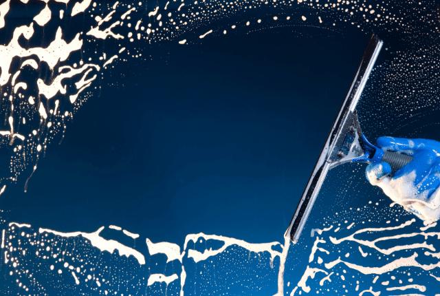 ניקיון חלונות זכוכית