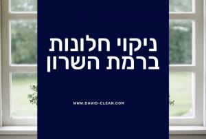 ניקוי חלונות ברמת השרון   דוד קלין